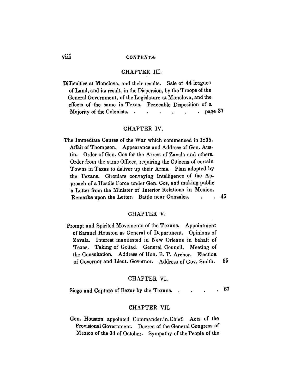 History of the revolution in Texas, particularly of the war of 1835 & '36; together with the latest geographical, topographical, and statistical accounts of the country, from the most authentic sources. Also, an appendix. By the Rev. C. Newell.                                                                                                      [Sequence #]: 8 of 227