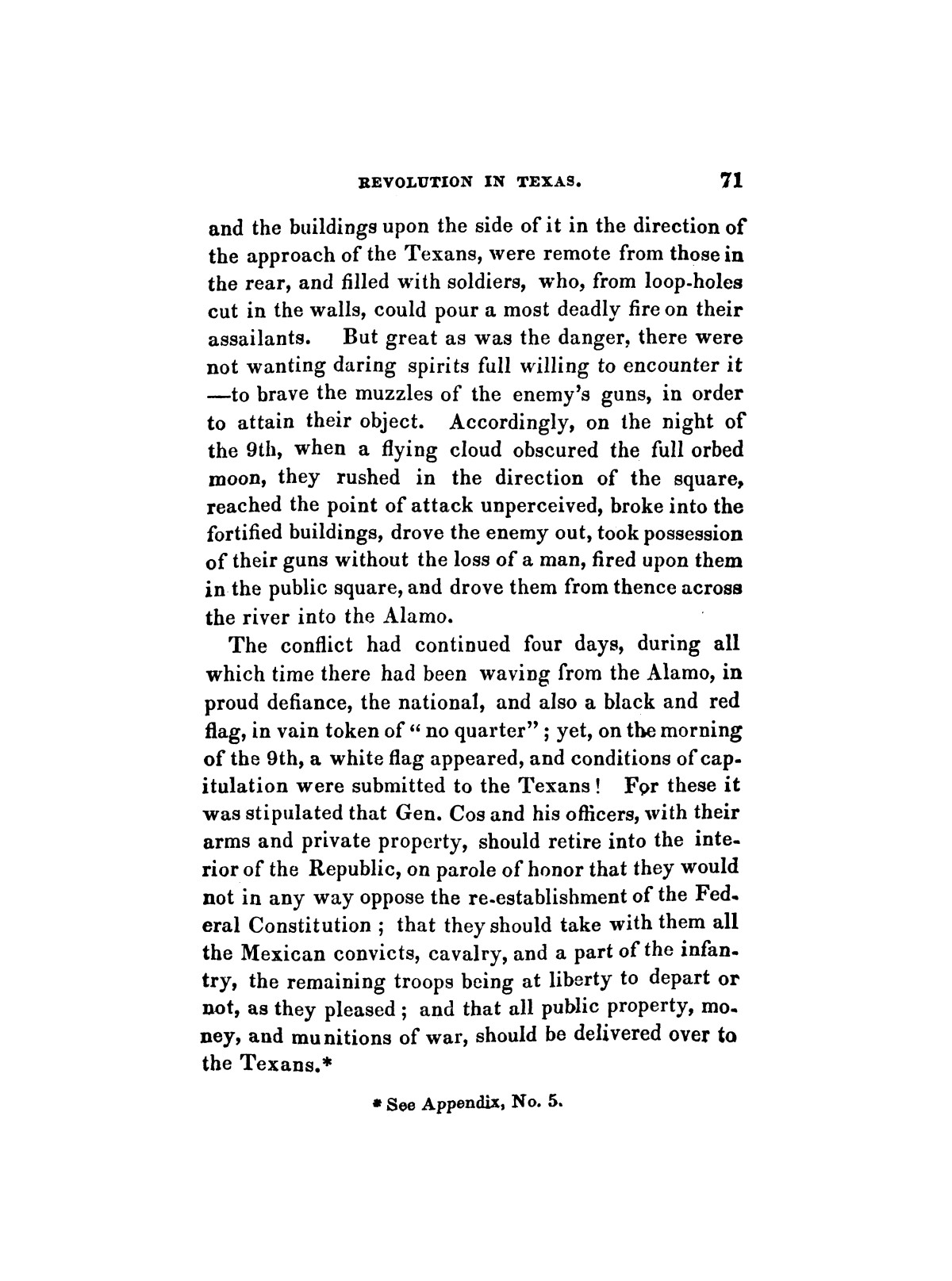 History of the revolution in Texas, particularly of the war of 1835 & '36; together with the latest geographical, topographical, and statistical accounts of the country, from the most authentic sources. Also, an appendix. By the Rev. C. Newell.                                                                                                      [Sequence #]: 83 of 227