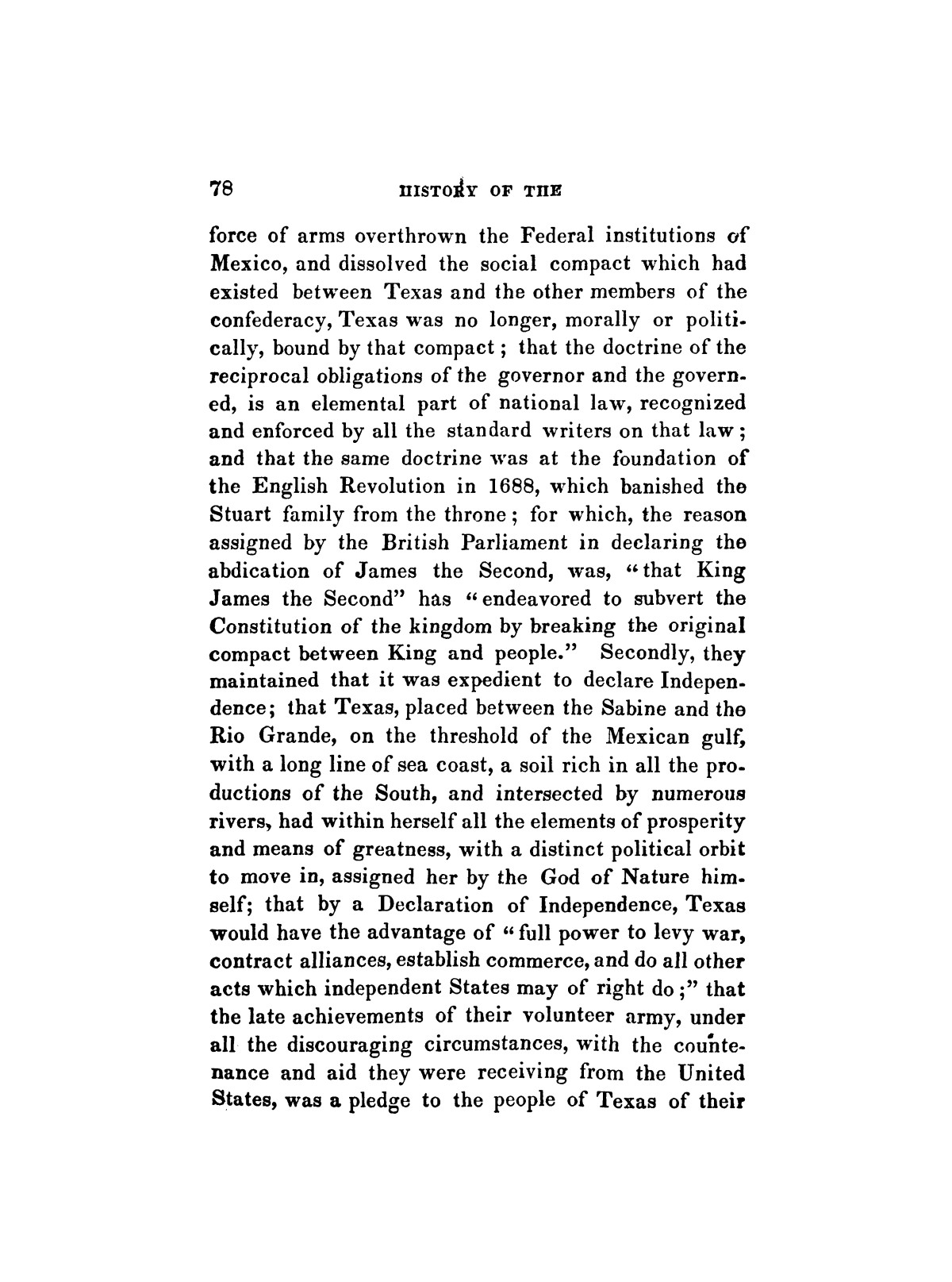History of the revolution in Texas, particularly of the war of 1835 & '36; together with the latest geographical, topographical, and statistical accounts of the country, from the most authentic sources. Also, an appendix. By the Rev. C. Newell.                                                                                                      [Sequence #]: 90 of 227