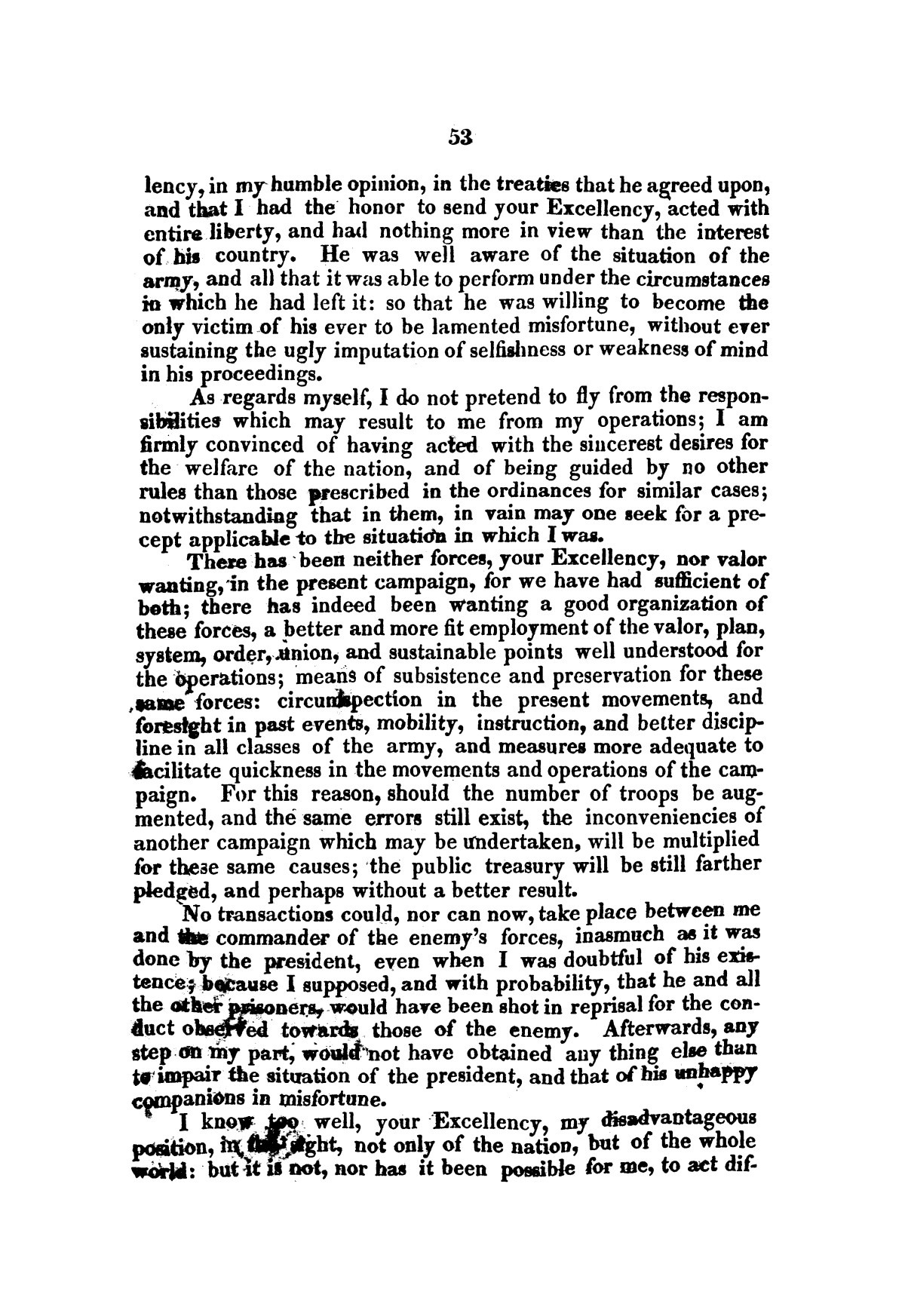 Evacuation of Texas : translation of the Representation addressed to the supreme government / by Vicente Filisola, in defence of his honor, and explanation of his operations as commander-in-chief of the army against Texas.                                                                                                      [Sequence #]: 56 of 72