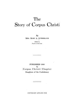 Primary view of object titled 'The Story of Corpus Christi'.