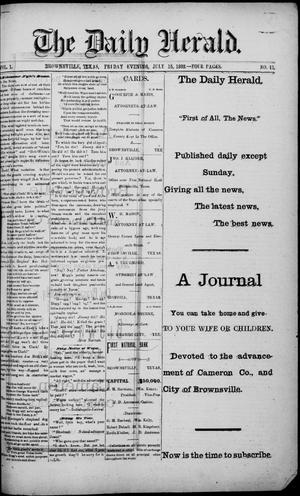 The Daily Herald (Brownsville, Tex.), Vol. 1, No. 11, Ed. 1, Friday, July 15, 1892
