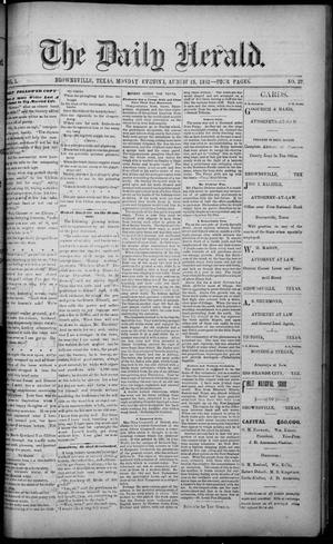 The Daily Herald (Brownsville, Tex.), Vol. 1, No. 37, Ed. 1, Monday, August 15, 1892
