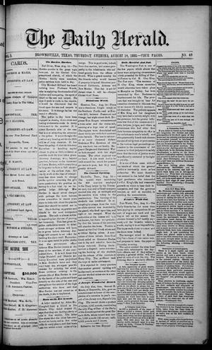 The Daily Herald (Brownsville, Tex.), Vol. 1, No. 40, Ed. 1, Thursday, August 18, 1892