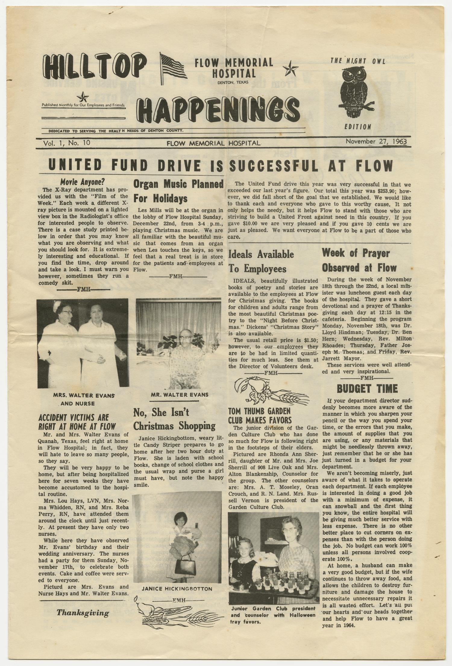 Hilltop Happenings, Volume 1, Number 10, November 1963 - The Portal ...