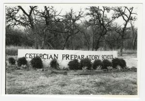 [Cistercian Preparatory School Entrance Sign]
