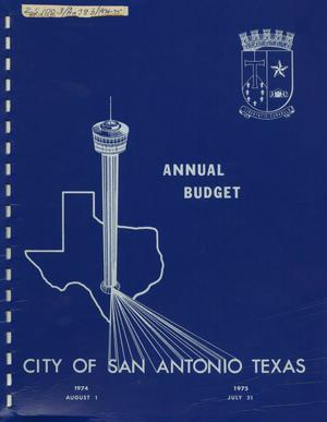 Primary view of object titled 'San Antonio Annual Budget: 1975'.