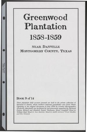 [Greenwood Plantation Accounts: 1858-1859]