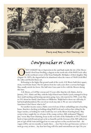 Primary view of object titled '[Cowpuncher or Cook Description]'.
