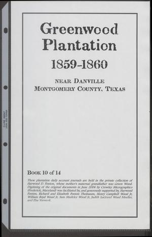 Primary view of object titled '[Greenwood Plantation Accounts: 1859-1860]'.