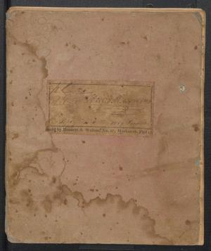 Primary view of object titled '[Diary of Henry Matthews - 1818-1820]'.