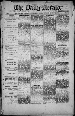 Primary view of object titled 'The Daily Herald (Brownsville, Tex.), Vol. 1, No. 86, Ed. 1, Tuesday, October 11, 1892'.