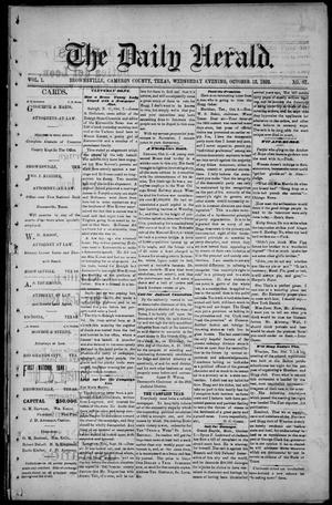 Primary view of object titled 'The Daily Herald (Brownsville, Tex.), Vol. 1, No. 87, Ed. 1, Wednesday, October 12, 1892'.