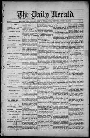 Primary view of object titled 'The Daily Herald (Brownsville, Tex.), Vol. 1, No. 89, Ed. 1, Friday, October 14, 1892'.