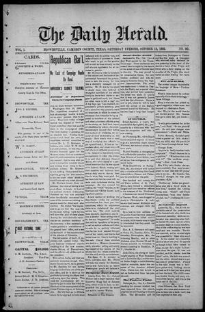 Primary view of object titled 'The Daily Herald (Brownsville, Tex.), Vol. 1, No. 90, Ed. 1, Saturday, October 15, 1892'.