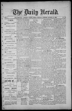 Primary view of The Daily Herald (Brownsville, Tex.), Vol. 1, No. 92, Ed. 1, Tuesday, October 18, 1892