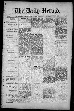Primary view of object titled 'The Daily Herald (Brownsville, Tex.), Vol. 1, No. 93, Ed. 1, Wednesday, October 19, 1892'.