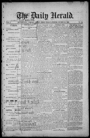 Primary view of object titled 'The Daily Herald (Brownsville, Tex.), Vol. 1, No. 95, Ed. 1, Friday, October 21, 1892'.
