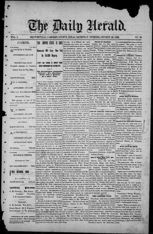 Primary view of object titled 'The Daily Herald (Brownsville, Tex.), Vol. 1, No. 96, Ed. 1, Saturday, October 22, 1892'.