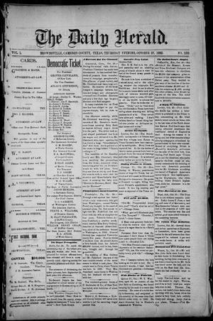 Primary view of object titled 'The Daily Herald (Brownsville, Tex.), Vol. 1, No. 100, Ed. 1, Thursday, October 27, 1892'.