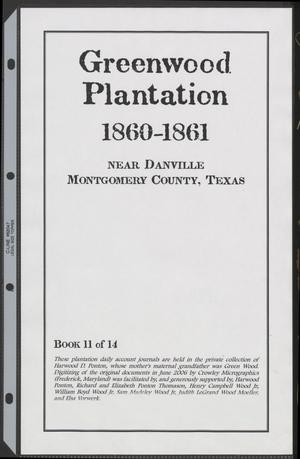 Primary view of object titled '[Greenwood Plantation Accounts: 1860-1861]'.