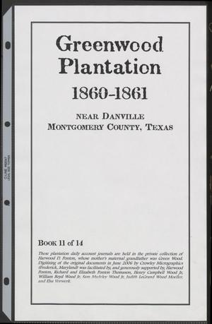 [Greenwood Plantation Accounts: 1860-1861]
