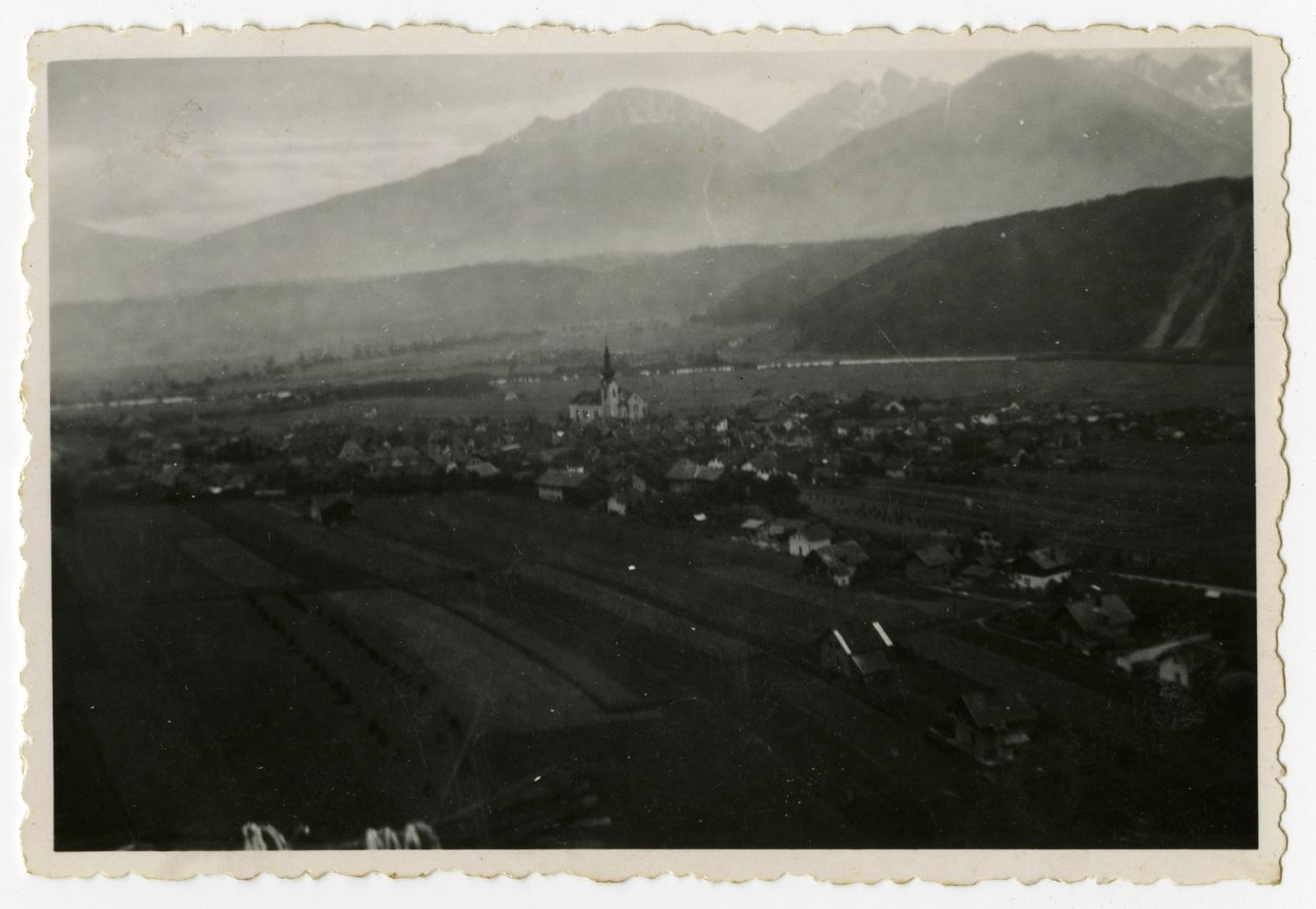 [Photograph of Austrian Town and Mountains]                                                                                                      [Sequence #]: 1 of 2