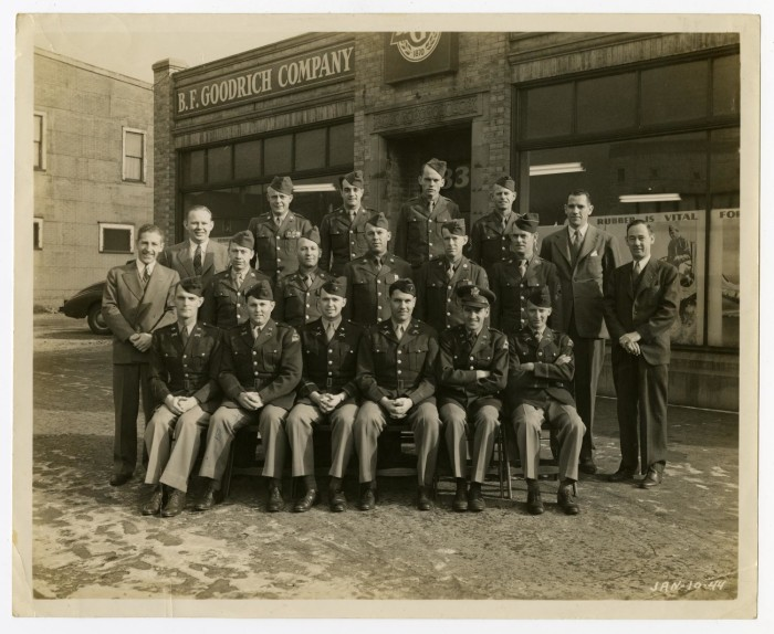Goodrich Portal >> Photograph Of Officers And Men At B F Goodrich Company The
