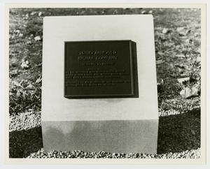 Primary view of object titled '[Photograph of 152nd Armored Signal Company Memorial Stone]'.