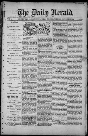 The Daily Herald (Brownsville, Tex.), Vol. 1, No. 123, Ed. 1, Wednesday, November 23, 1892