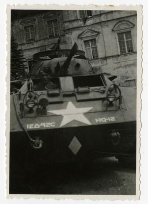 Primary view of object titled '[Photograph of Ray Pieterick in Tank]'.