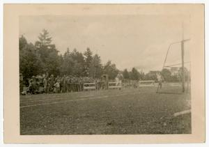 Primary view of object titled '[Photograph of Army Track Meet]'.