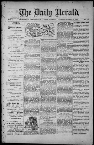 Primary view of object titled 'The Daily Herald (Brownsville, Tex.), Vol. 1, No. 135, Ed. 1, Wednesday, December 7, 1892'.