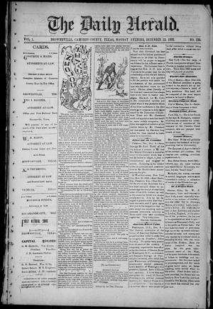 Primary view of object titled 'The Daily Herald (Brownsville, Tex.), Vol. 1, No. 139, Ed. 1, Monday, December 12, 1892'.