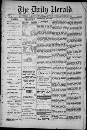 The Daily Herald (Brownsville, Tex.), Vol. 1, No. 144, Ed. 1, Saturday, December 17, 1892