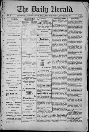 The Daily Herald (Brownsville, Tex.), Vol. 1, No. 148, Ed. 1, Thursday, December 22, 1892