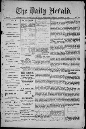 The Daily Herald (Brownsville, Tex.), Vol. 1, No. 153, Ed. 1, Wednesday, December 28, 1892