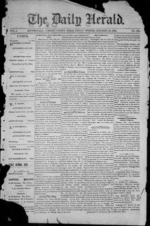 Primary view of object titled 'The Daily Herald (Brownsville, Tex.), Vol. 1, No. 155, Ed. 1, Friday, December 30, 1892'.