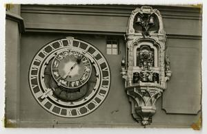 Primary view of object titled '[Postcard of Bern, Switzerland Clock Tower (Zytglogge)]'.
