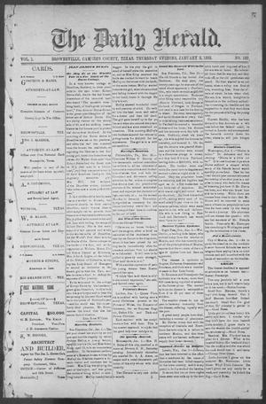 Primary view of object titled 'The Daily Herald (Brownsville, Tex.), Vol. 1, No. 160, Ed. 1, Thursday, January 5, 1893'.