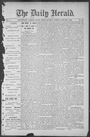 Primary view of object titled 'The Daily Herald (Brownsville, Tex.), Vol. 1, No. 162, Ed. 1, Saturday, January 7, 1893'.