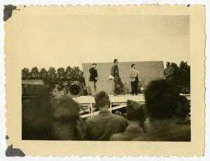 Primary view of object titled '[Photograph of USO Show]'.