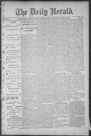 Primary view of object titled 'The Daily Herald (Brownsville, Tex.), Vol. 1, No. 163, Ed. 1, Monday, January 9, 1893'.