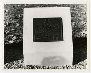 Primary view of object titled '[Photograph of 119th Armored Engineer Battalion Memorial Stone]'.