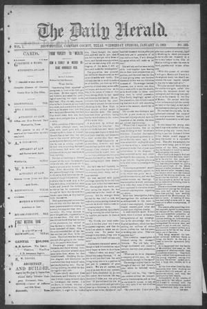 Primary view of object titled 'The Daily Herald (Brownsville, Tex.), Vol. 1, No. 165, Ed. 1, Wednesday, January 11, 1893'.