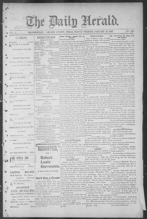 Primary view of object titled 'The Daily Herald (Brownsville, Tex.), Vol. 1, No. 167, Ed. 1, Friday, January 13, 1893'.