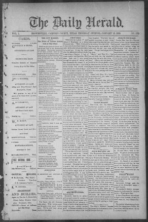 Primary view of object titled 'The Daily Herald (Brownsville, Tex.), Vol. 1, No. 172, Ed. 1, Thursday, January 19, 1893'.