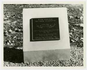 Primary view of object titled '[Photograph of 17th Armored Infantry Battalion Memorial Stone]'.