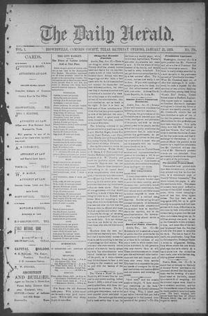 The Daily Herald (Brownsville, Tex.), Vol. 1, No. 174, Ed. 1, Saturday, January 21, 1893