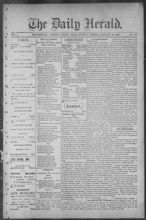Primary view of object titled 'The Daily Herald (Brownsville, Tex.), Vol. 1, No. 176, Ed. 1, Tuesday, January 24, 1893'.